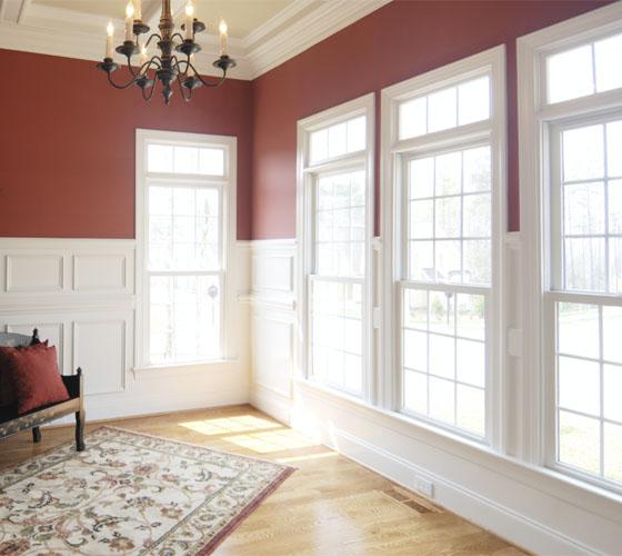 Interior windows inside a home