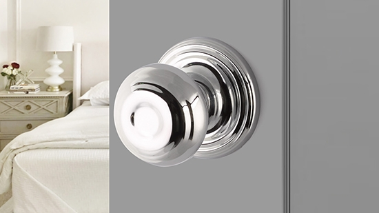 Yale Expressions Hardware - Silver Interior Door Knob