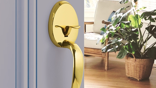 Yale Expressions Hardware - Gold Door Lever